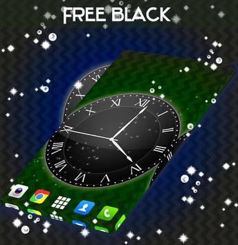 Black Live Clock Wallpaper screenshot 3