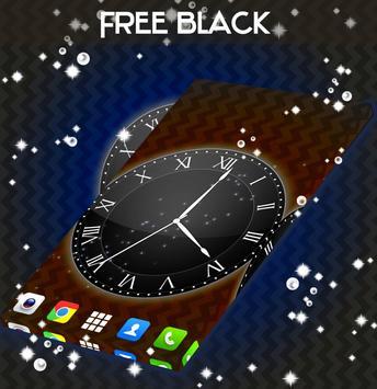 Black Live Clock Wallpaper screenshot 2