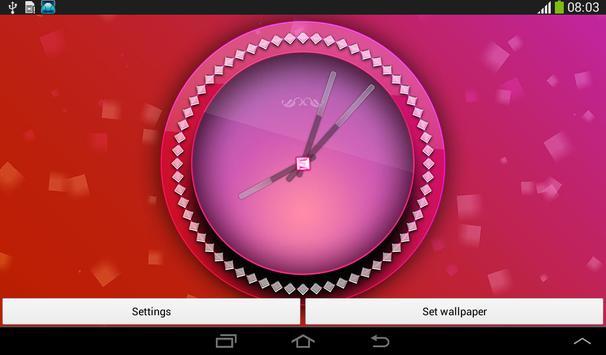 Pink Clock Live Wallpaper screenshot 14