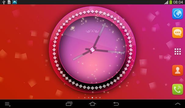 Pink Clock Live Wallpaper screenshot 10
