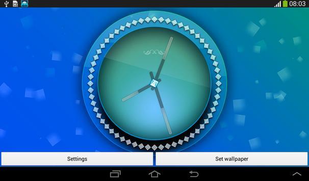 Pink Clock Live Wallpaper screenshot 12