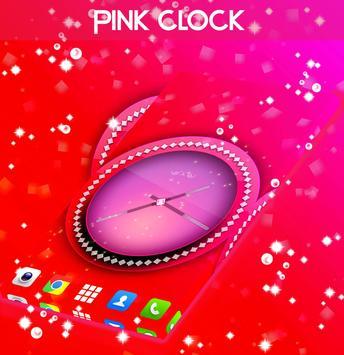 Pink Clock Live Wallpaper screenshot 1