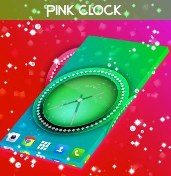 Pink Clock Live Wallpaper screenshot 2