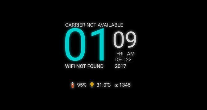 Galaxy S8 Clock Live Wallpaper Apk App تنزيل مجاني لأجهزة