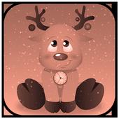 Christmas Reindeer Clock Live Wallpaper icon