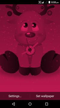 Christmas Reindeer Clock Live Wallpaper poster