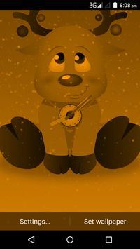Christmas Reindeer Clock Live Wallpaper screenshot 1