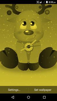 Christmas Reindeer Clock Live Wallpaper screenshot 2