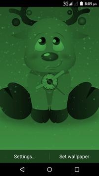 Christmas Reindeer Clock Live Wallpaper screenshot 3