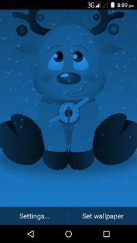 Christmas Reindeer Clock Live Wallpaper screenshot 4