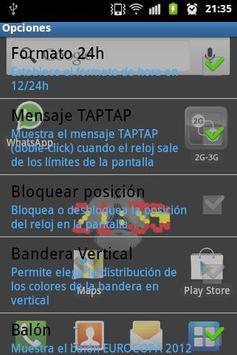 3D Clock SPANISH FLAG screenshot 1