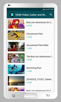 VEdit Video Cutter and Merger captura de pantalla de la apk