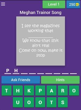Missing Lyric Quiz screenshot 8
