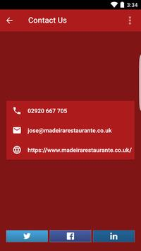 Madeira Restaurante Cardiff apk screenshot