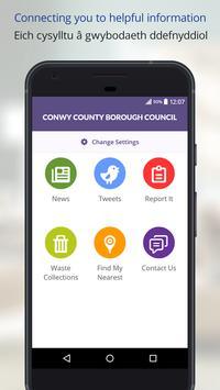 Conwy County Borough Council poster