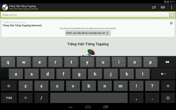 Tagalog-Vietnamese Dictionary apk screenshot