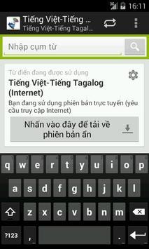 Tagalog-Vietnamese Dictionary poster