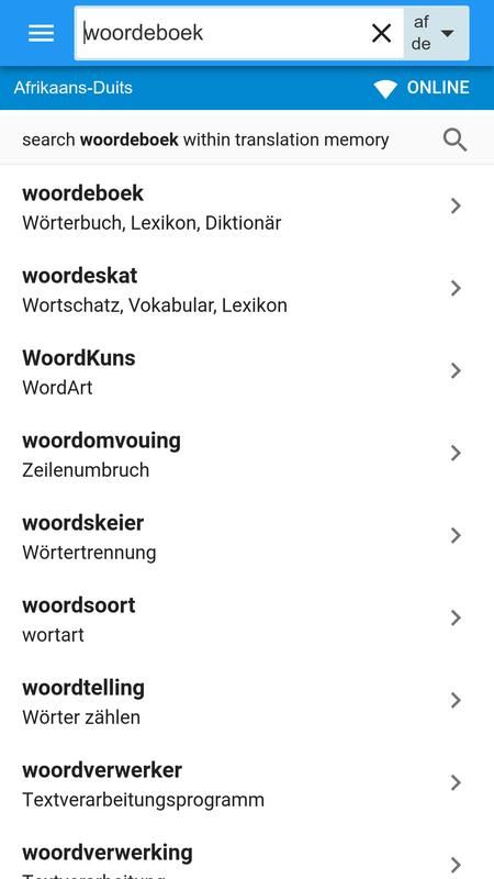Duits-afrikaans woordeboek for android apk download.