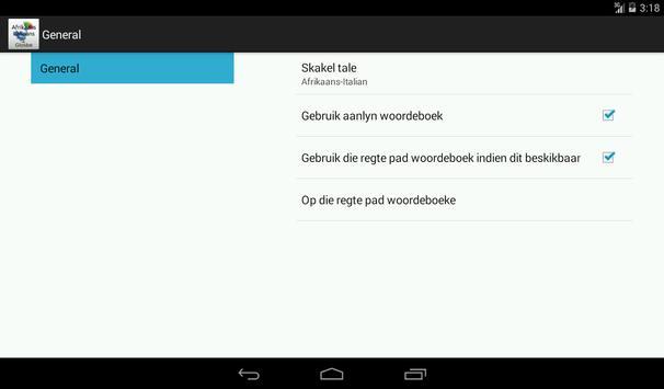 Afrikaans-Italian Dictionary screenshot 14