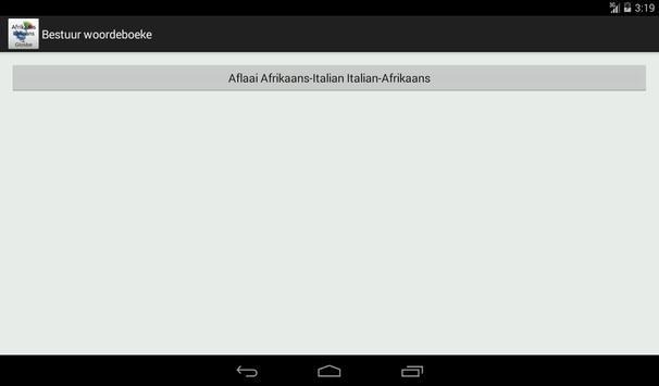 Afrikaans-Italian Dictionary screenshot 15