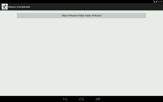 Afrikaans-Italian Dictionary screenshot 10