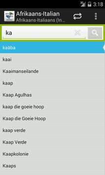 Afrikaans-Italian Dictionary screenshot 1