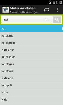 Afrikaans-Italian Dictionary screenshot 2