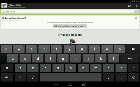 Afrikaans-Italian Dictionary screenshot 6