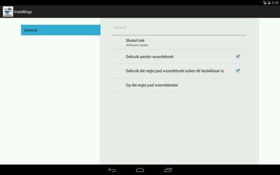 Afrikaans-Italian Dictionary screenshot 9