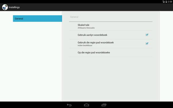 Afrikaans-Slovak Dictionary apk screenshot