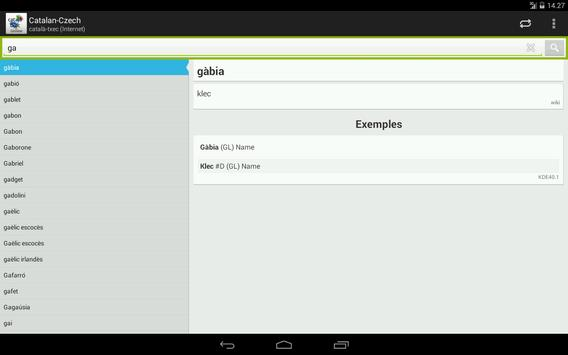 Catalan-Czech Dictionary apk screenshot