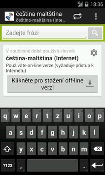 Czech-Maltese Dictionary poster