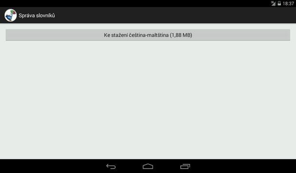 Czech-Maltese Dictionary screenshot 15