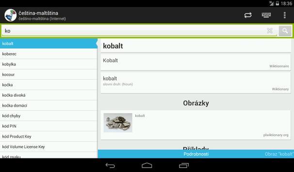 Czech-Maltese Dictionary screenshot 12