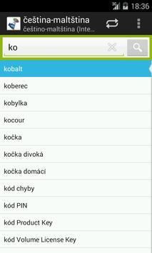 Czech-Maltese Dictionary screenshot 1