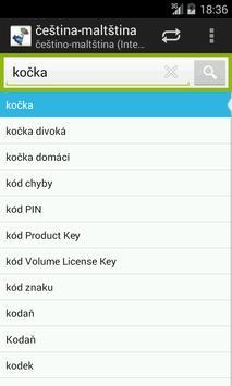 Czech-Maltese Dictionary screenshot 2