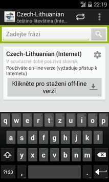 Czech-Lithuanian Dictionary poster