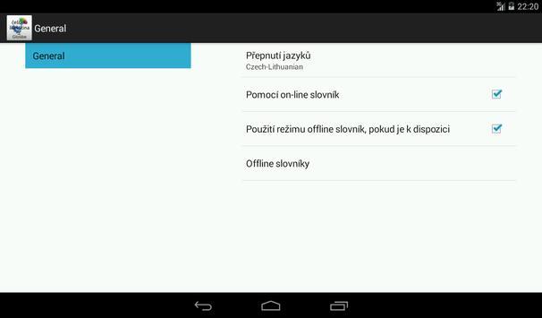 Czech-Lithuanian Dictionary apk screenshot
