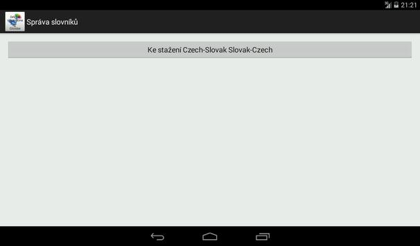 Czech-Slovak Dictionary apk screenshot