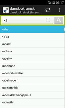 Danish-Ukrainian Dictionary apk screenshot