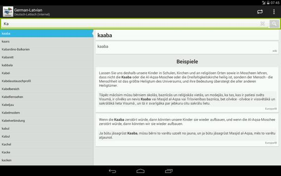 German-Latvian Dictionary apk screenshot