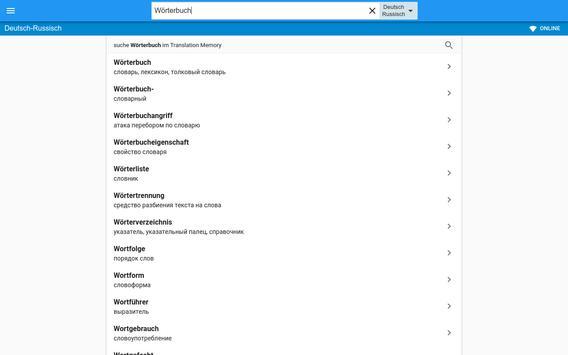 Russisch-Deutsch Wörterbuch apk screenshot