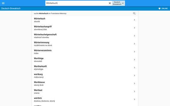 Slowakisch-Deutsch Wörterbuch apk screenshot