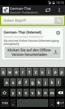 German-Thai Dictionary poster