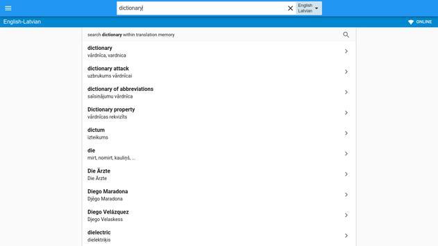 Latvian-English Dictionary apk screenshot