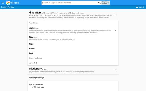 Turkish-English Dictionary screenshot 3