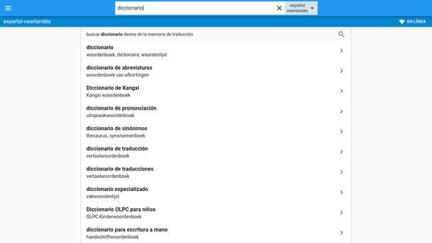 Neerlandés-Español Diccionario apk screenshot