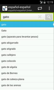Spanish-Spanish Dictionary apk screenshot