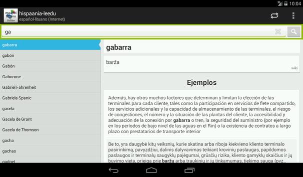 Lituano-Español Diccionario apk screenshot
