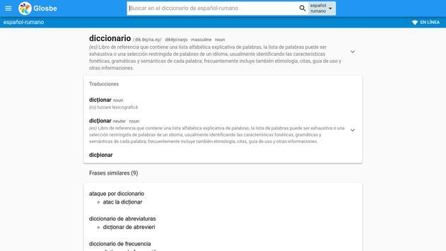 Rumano-Español Diccionario screenshot 6